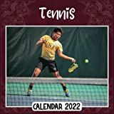 Tennis 2022 Calendar: Tennis mini calendar 2022 2023, Tennis 2022 Planner with Monthly Tabs and Notes Section, Tennis Monthly Square Calendar with 18 Exclusive Photos