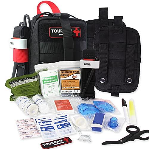TOUROAM IFAK Med Trauma Kit, Molle Tactical Emergency First...