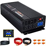 aeliussine 1500 watt Pure Sine Wave Inverter 24v dc to ac 110v 120v with LCD Display with Remote...