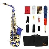 ammoon Saxophone alto LADE Laiton gravé Mi bémol Instrument à vent Sax...