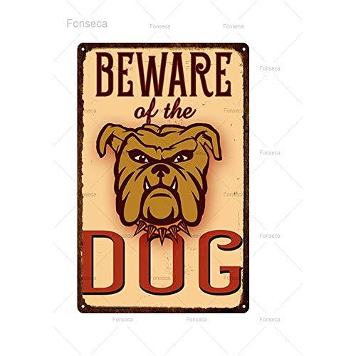 ivAZW Metal Poster Tin Sign Plaque Nostalgic-Art Cute Pet Iron Painting Metal Animal Vintage Plates For Retro Home 20X30Cm 15