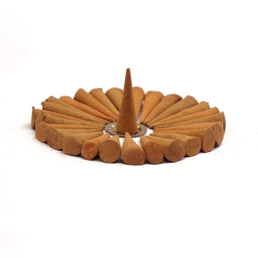 永久サッカー葉を拾うローズ?–?Nag Champa Incense Conesコンボ