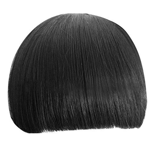 bluelans® Fashion Sweet Girl droite Bang Neat Frange Perruque Clip en Extensions de cheveux