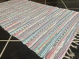 Second Nature Pale Multi Farben Pastell Flickenteppich 75cm x 135cm indischen recycelte Baumwolle Chindi