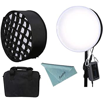CB-130A with Honeycomb Menik CB-130A 150W Stereotyped Flexible LED Photography Lamp with Honeycomb Grid Softbox 2750-6500K Bi-Color Roll-Flex Light