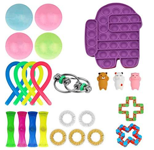 Fidget-Toys-Pack-24pcs-Fidget-Toy-Set-Fidget-Toys-for-Adults-Kids-Fidget-Pack-with-Marble-Mesh-Fidget-Packs-Sensory-Toys-for-Anxiety