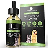 House of Healing Hemp Oil for Dogs & Cats :: 1,500mg 1oz :: Hemp Seed Extract :: Rich in Omega 3,6,9 :: Supports Hip & Joint Health, Natural Relief for Pain, Separation Anxiety + More