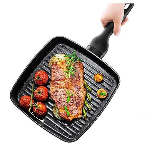 WMMCM Steak Pancake Pot, koekenpan, geen stick gelijkmatige warmteverdeling in de keuken, camping, vissen, oven, frity-up