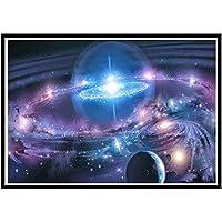 5D ダイヤモンド絵画 数字キット Galaxy Universe フルドリル 刺繍 クロスステッチ 写真用品 芸術 クラフトウォールステッカー 装飾 16x12インチ
