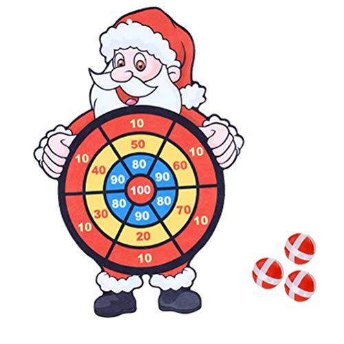 DUOCACL Navidad Santa Claus Dardos Junta Lanzar Bola Pegajosa Juguete Deportes Interior Juguete Niños Tiempo De Ocio Juego De Juguete Adulto Niños Juguetes De Descompresión