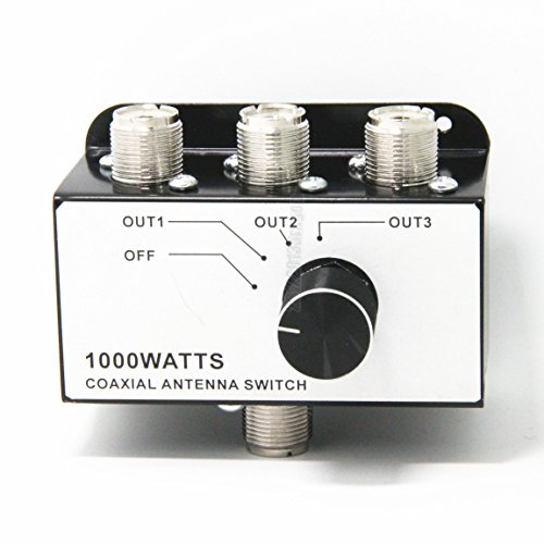 Ancable 1000 W 3 Posiciones CB Radio Coax Antena Switch