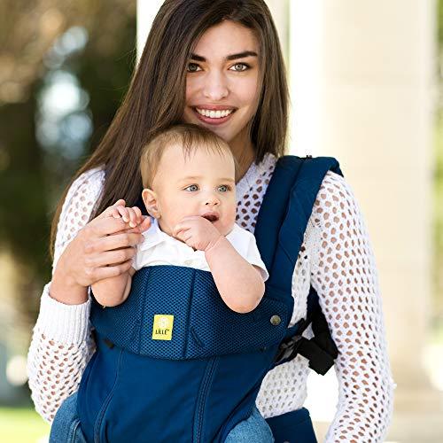 抱っこ紐 おんぶ紐 LÍLLÉbaby (リルベビー) COMPLETE ALL SEASONS (オールシーズンズ) 6-in-1 6WAYベビーキャリア 新生児&幼児用 エルゴノミックマルチポジションベビーキャリア -ネイビー