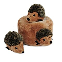 FUN CHARACTERS - Dogs will have hours of fun playing with 3 adorable hedgehogs and digging them out of their den EXCLUSIVE NOISEMAKERS - Each hedgehog includes 1 high-quality round squeaker to deliver more sound to keep your best friend entertained I...