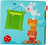 HABA My First Photo Album - Soft Fabric Baby Book Fits Eight 4' x 6' Photos for Ages 12 Months +