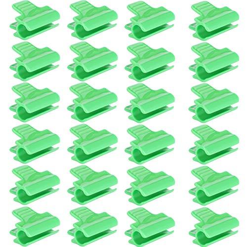 Ymiko 24Pcs Plástico Invernadero Clip de película Abrazade