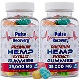 Hemp Gummies (2-Pack - 120 Count) Premium Hemp Extract Sugar Coated...