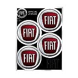 Fiat 21211 - Adhesivos para tapacubos Oficiales con 4 Logotipos de 48 mm