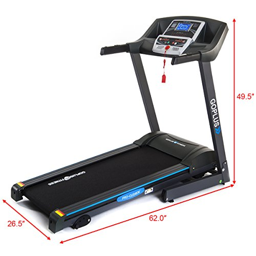 GOPLUS 2.2HP Folding Treadmill Electric Support Motorized Power Running Fitness Jogging Incline Machine g Fitness Jogging Incline Machine Fitness Jogging Incline Machine, Classic