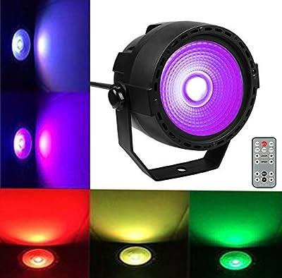 Party Stage Light Disco COB Par DMX Lights with 7 DMX Control, for Wedding DJ Bar Club Party Dance Xmas