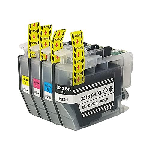SXCD LC3513 Cartuchos de Tinta para su Hermano, reemplazo para su Hermano MFC-J491DW J690DW J890DW DCP-J572DW Impresora de inyección de Tinta de Alta Rendimiento 4 Color Combination