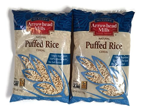 Arrowhead Mills Puffed Rice Cereal 6 Oz Packages Set of 2