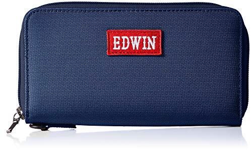 [エドウィン] ウォレット スマートフォン収納 ハイライトワッペン カード収納 小銭収納 大容量 ネイビー
