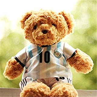 Drivworld Teddy Bear plush toy fans souvenir bear doll with Wear celebrity Messi Rooney soccer jersey (Rooney on the 10th British)