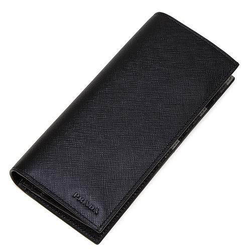 プラダPRADA2つ折り長財布(小銭入れ付き)ブラック2MV836ZLPF0002SAFFIANOMULTICOLORNERO[並行輸入品]