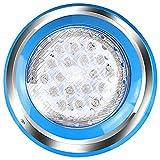 TOPLANET Iluminación subacuática LED de 54 W, resistente al agua IP68, iluminación para estanque, decoración de piscina