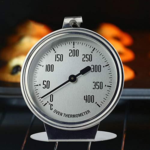 Jannyshop 0-400 ℃ Edelstahl-Thermometer mit Haken für Backofen/Grill/Gefrierschrank/Kühler