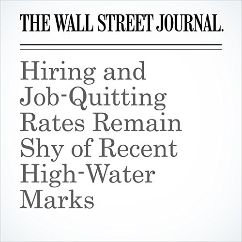 Hiring and Job-Quitting Rates Remain Shy of Recent High-Water Marks copertina