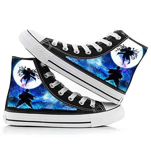 Demon Slayer Anime Classic Sneakers Moda Zapatillas Altas Adulto Zapatos Planos Luz Zapatillas De Deporte Estudiante Zapatillas con Cordones Pareja Zapatos De Tela Transpirables Tamaño 42 EU
