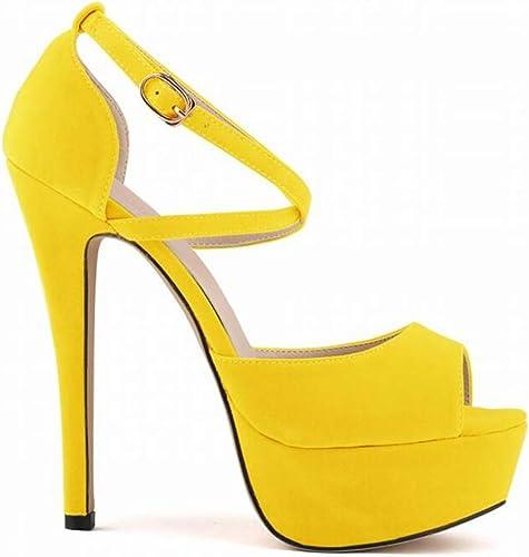 Glz Sandales à Talons Hauts Pieds Chaussures de mariée 14cm