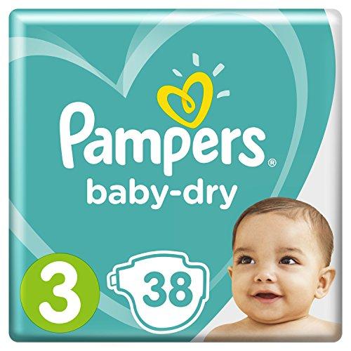 Pampers Baby-Dry Windeln Größe 3 (6 - 10 kg), 38 Stück