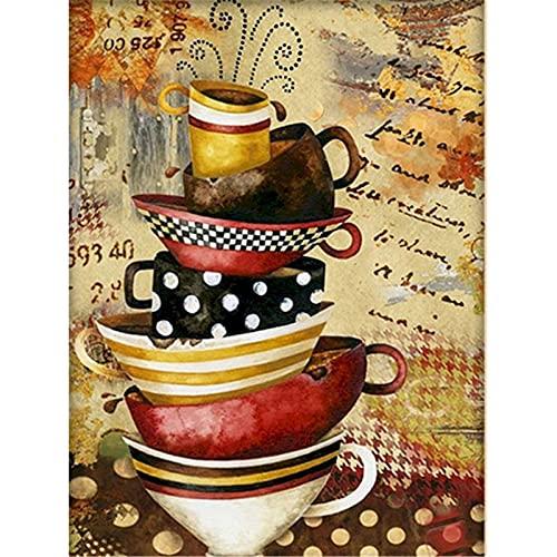 Abstrakcyjna kubek DIY malarstwo przez numery krajobraz akrylowa farba na płótnie rysunek ręcznie malowane zestawy wystrój domu ((Cm) : 40x50cm No Frame, Kleur : 9911324)