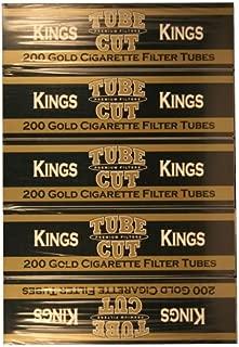 Gambler Gold King Tube Cut Cigarette Tubes 200ct Carton 5 Pack