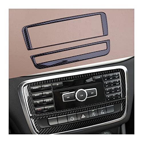 Prospective Marco DE Cubierta DE CD Decorativa del Panel de la Consola de la Consola de la Fibra de Carbono del 1set para Mercedes Benz A B GLA Class