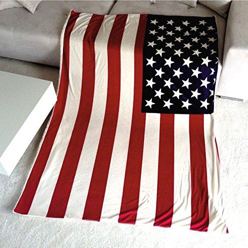 US Flag Tagesdecke Wohndecke Amerika USA Kuscheldecke Decke Flausch Super Soft