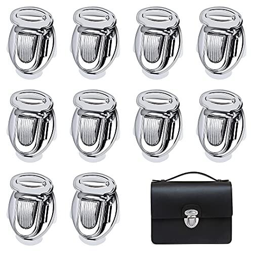 Cierres de Monedero Metálico Decorativa Cerraduras de Giro para Bolso Diseño Elegante para Accesorios Hardware Carteras Embragues DIY Artesanías De Cuero 10 Piezas