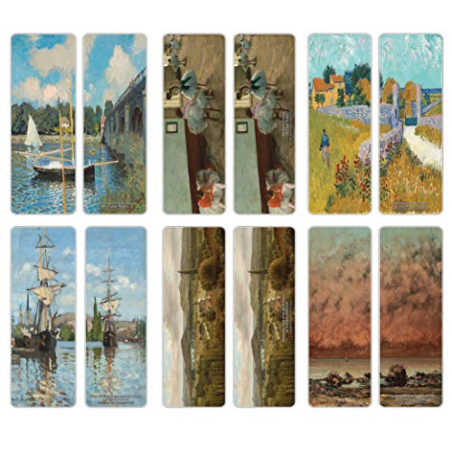 Creanoso Classical Artistic Famous Arts Series 4 Bookmarks (30-Pack)  Inspiring Illustrations for Painters, Artists  Great Art Reading Collection Pack for Men, Women, Teens, Adults