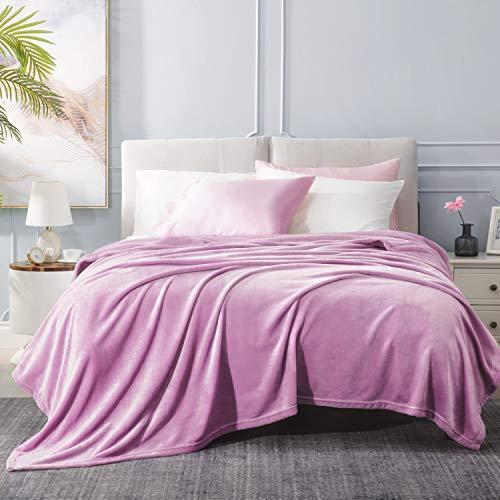 BEDSURE Decke Sofa Kuscheldecke lila- XXL Fleecedecke für Couch weich & warm, Wohndecke flauschig 220x240 cm als Sofadecke Couchdecke