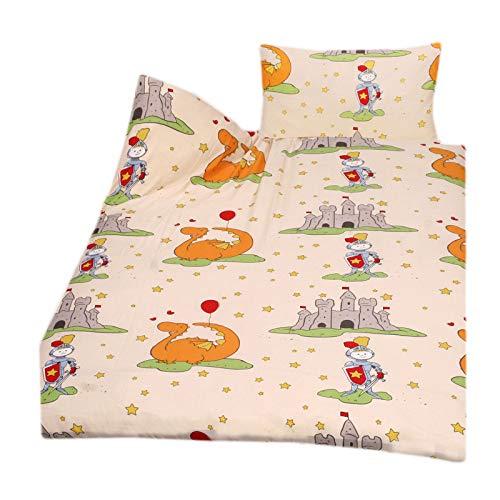 Casa Colori Parure de lit 2 pièces en Microfibre pour Enfant avec Housse de Couette 100 x 135 cm et taie d'oreiller 40 x 60 cm Rose avec Cadenas