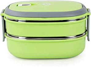 WZHZJ Kids Bento Box Picnic Outdoor Activity Travel Kitchen Food Storage Stainless Steel Heat Insulation Container Lunch B...