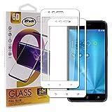 Guran [2 Pezzi Pellicola Vetro Temperato per ASUS Zenfone 3 Zoom S ZE553KL / Zenfone3 Zoom Smartphone Copertura Completa 9H Durezza HD Pellicola Protettiva - Bianco