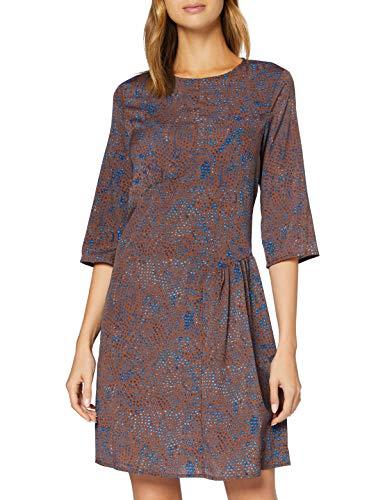 Sisley Dress Vestito, Marble Brown Print 74e, 46 Donna