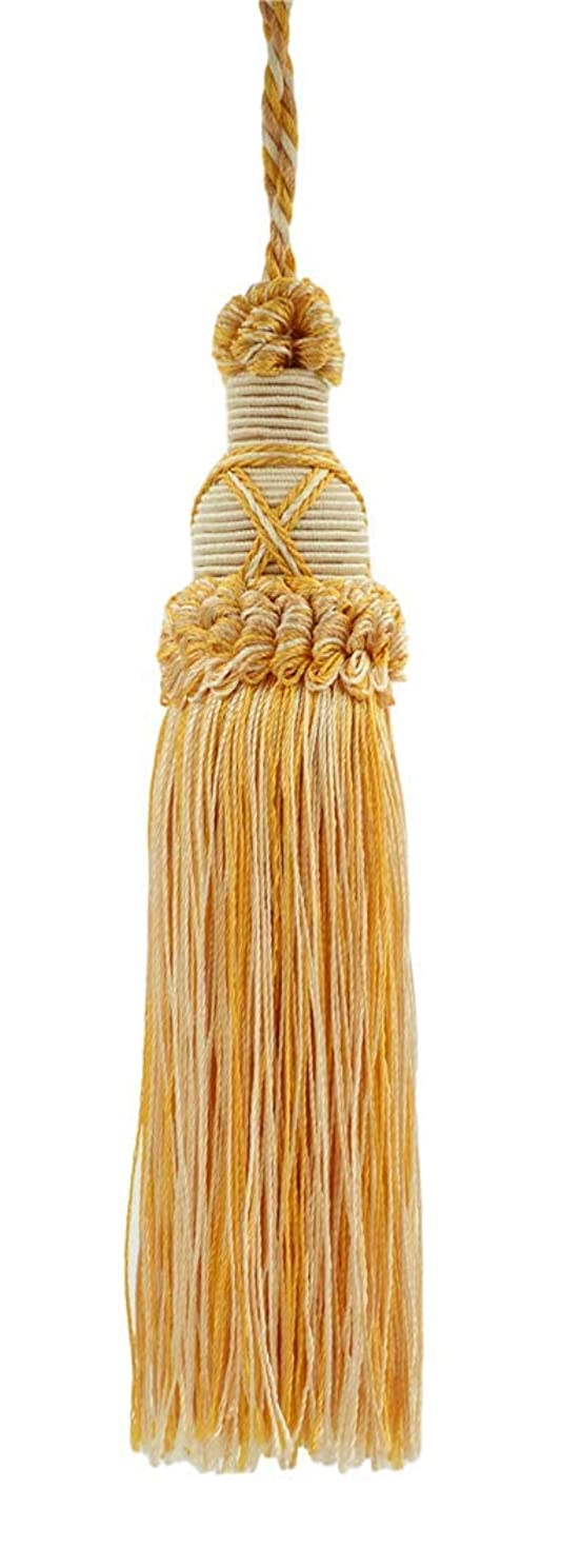 Decorative 5.5 Inch Key Tassel, Light Sand Gold Imperial II Collection Style# KTIC Color: Lemon Meringue - B2523