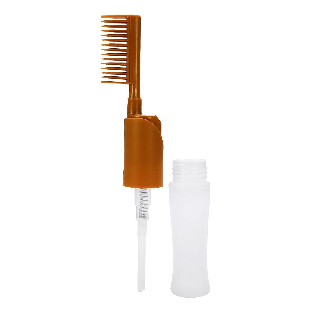 ダニピジンカラス染まるびん、大広間の櫛のアプリケーターの黄色を染める毛の染料のびんの櫛