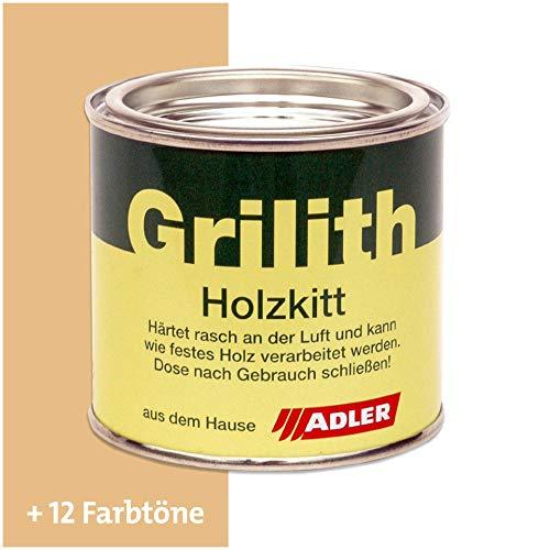 ADLER Grilith Holzkitt Spachtelmasse Kitt für Holz Möbel Basteln Reparieren Fichte Birke Esche 200 ml