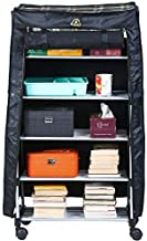 Ebee Multipurpose 5 Shelves Rack with Cover (Multicolor)