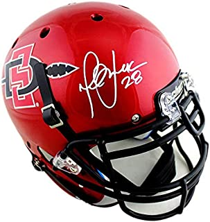 Marshall Faulk Signed San Diego State Schutt Authentic Red NCAA Helmet - Autographed College Helmets